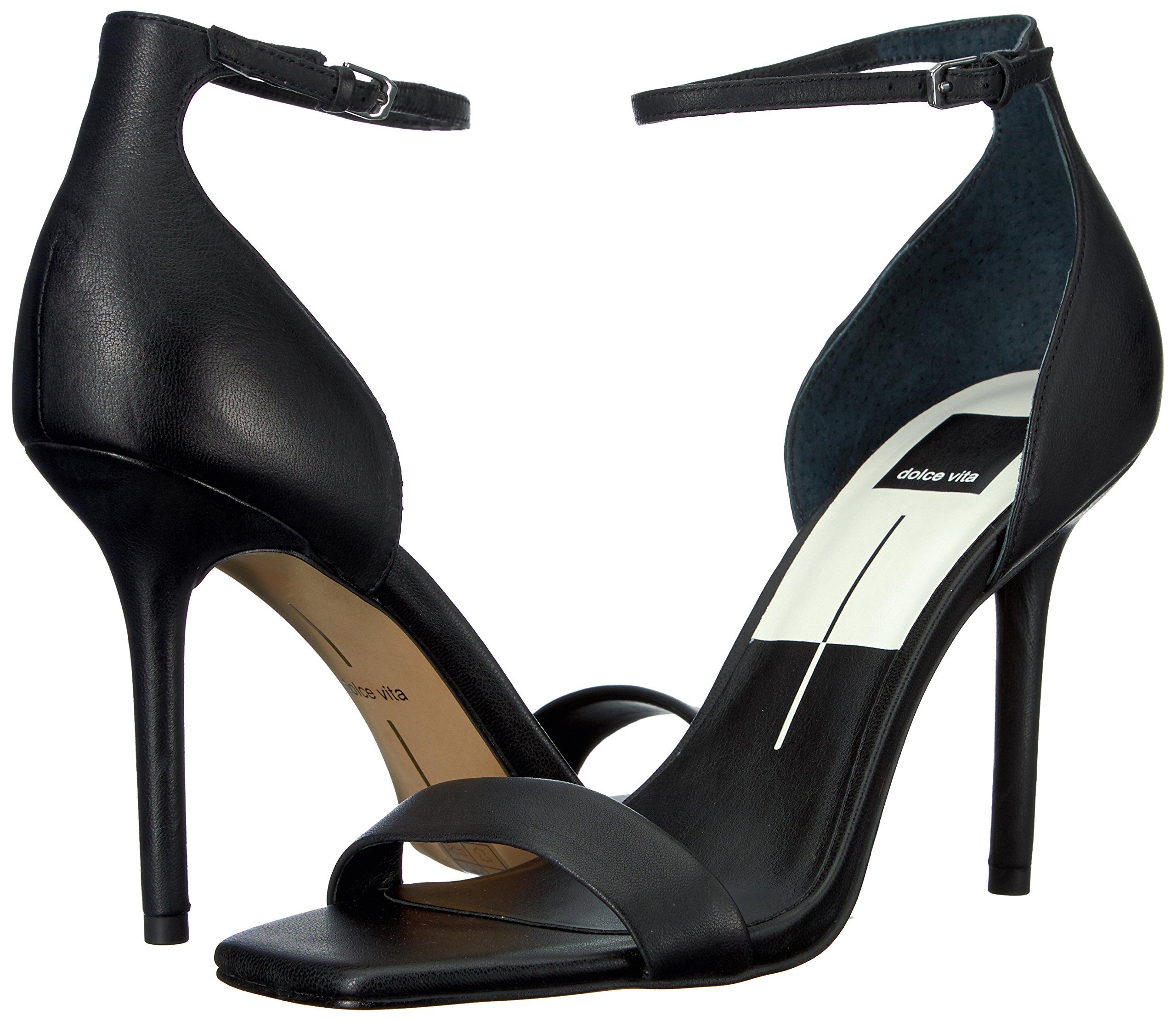 Dolce Vita Women's Halo Heeled Sandal, Black Leather, 8.5 Medium US by Dolce Vita (Image #6)