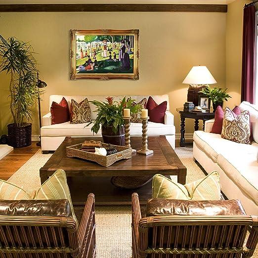 classic tropical island home decor home improvement.htm amazon com overstockart seurat sunday afternoon on the island of  overstockart seurat sunday afternoon