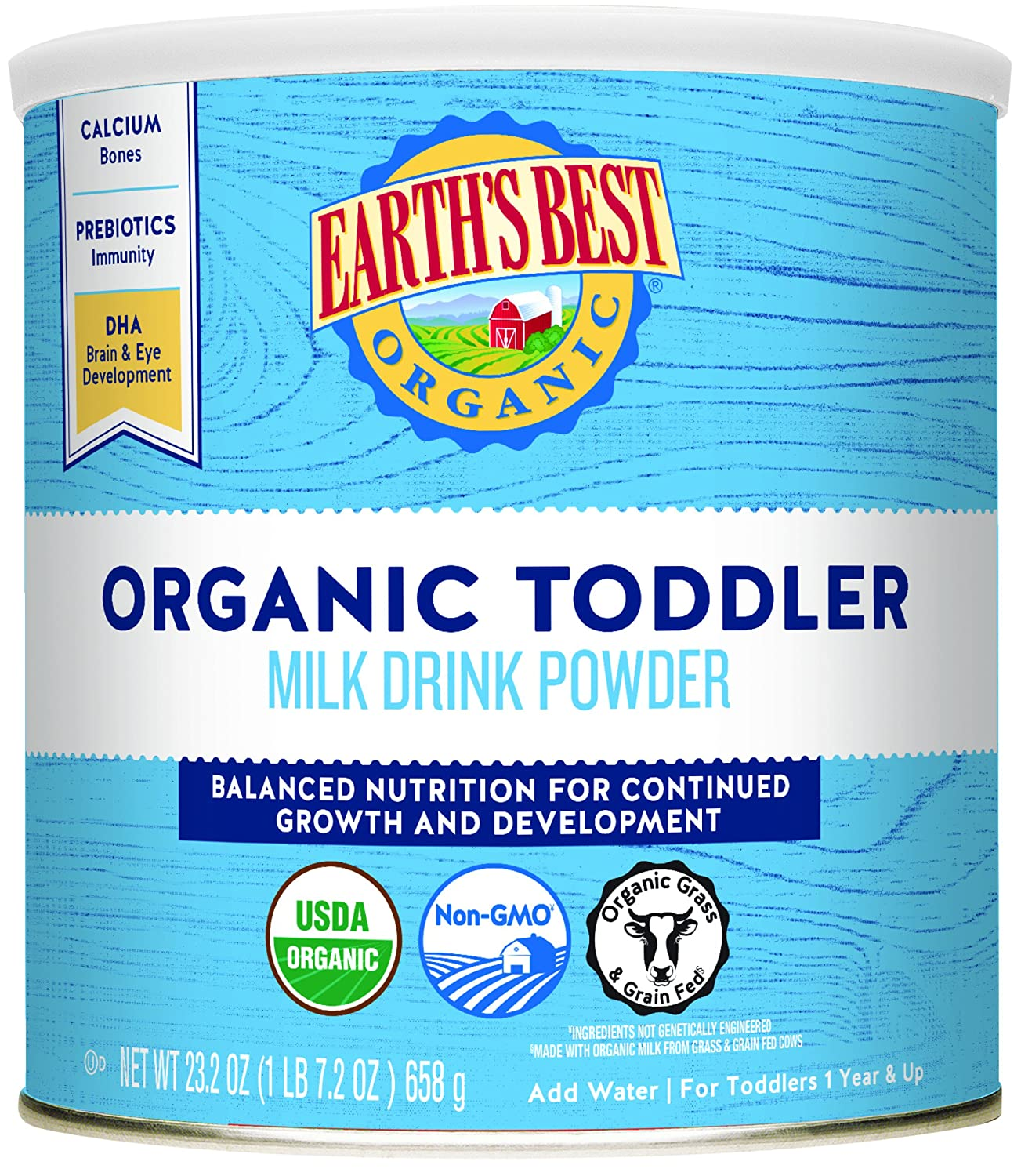 Earth's Best Organic Toddler Milk Drink Powder, Natural Vanilla