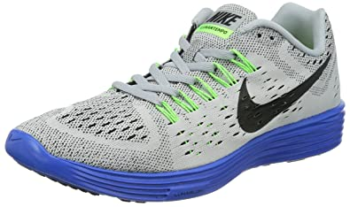 premium selection 771db 9ccce Image Unavailable. Image not available for. Color  Nike Men s LunarTempo  Grey Royal Lime Black Running Shoes ...