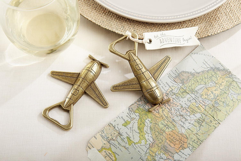 Amazon.com: Kate Aspen Let the Adventure Begin Airplane Bottle ...