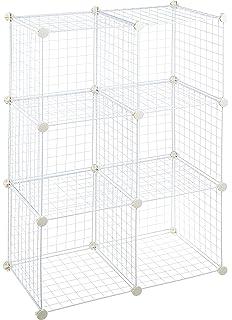 Exceptionnel AmazonBasics 6 Cube Wire Storage Shelves   White