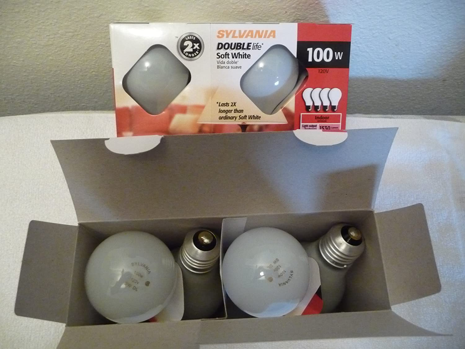 Sylvania Double Life 100 Watt Soft White Bulbs - Incandescent Bulbs - Amazon.com