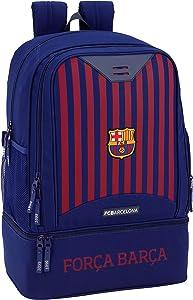 Barcelona F.C. Boys' Sport Duffel, Blue (Azul), 50 centimeters