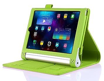iHarbort® Lenovo Yoga Tablet 2 10 Caso - Ultra Slim Ligero Smart Cover Stand Estuche de Cuero para la de Lenovo Yoga Tablet 2 10, con Smart Auto ...