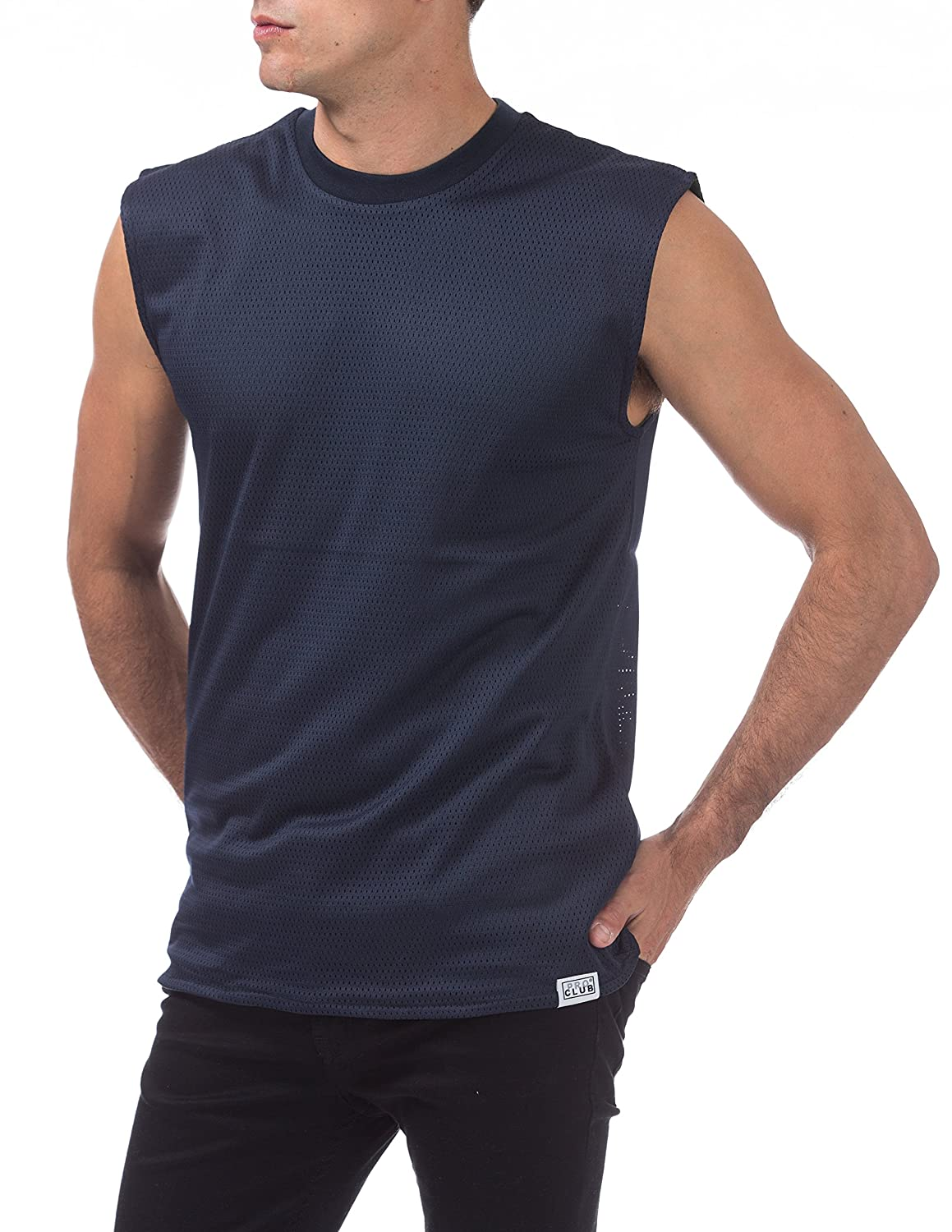 08be7dbdd Pro Club Men's Sleeveless Reversible Mesh Muscle Tee at Amazon Men's  Clothing store: