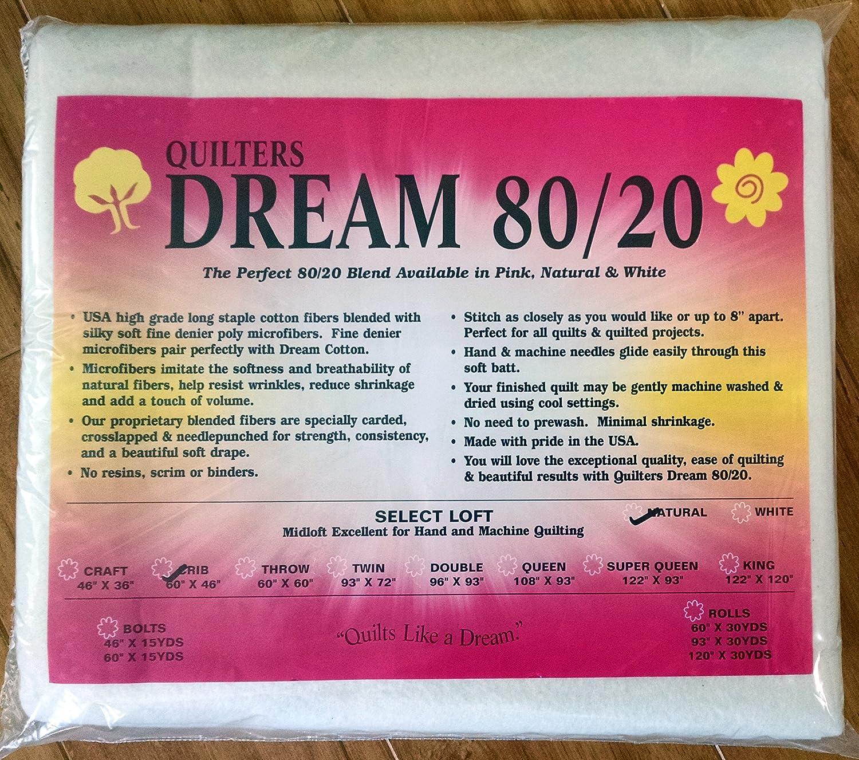 Quilter's Dream 80/20, Natural, Select Loft Batting - Crib Size 60