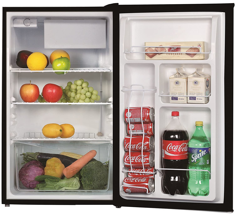 1.6 Cu.Ft Daewoo FR-016RBE Refrigerator Black