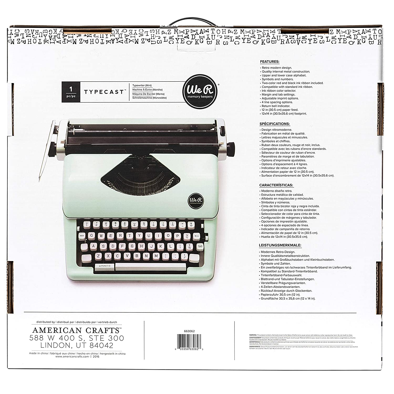 We R Memory Keepers Máquina De Escribir Typecast Typewriter ...