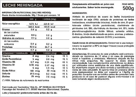BODY GENIUS Lean Protein (Leche Merengada). 500g. Whey Isolate. Proteína en Polvo con Stevia. Vitaminas y Minerales. Hecho en España.