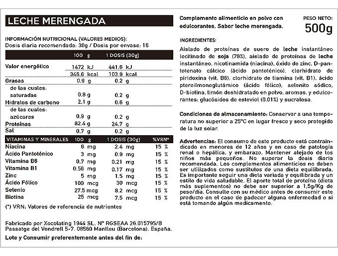 BODY GENIUS Lean Protein (Leche Merengada). 500g. Whey Isolate ...