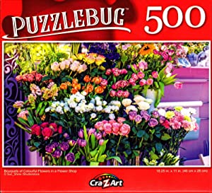 Puzzlebug 500 - Bouquets of Colourful Flowers