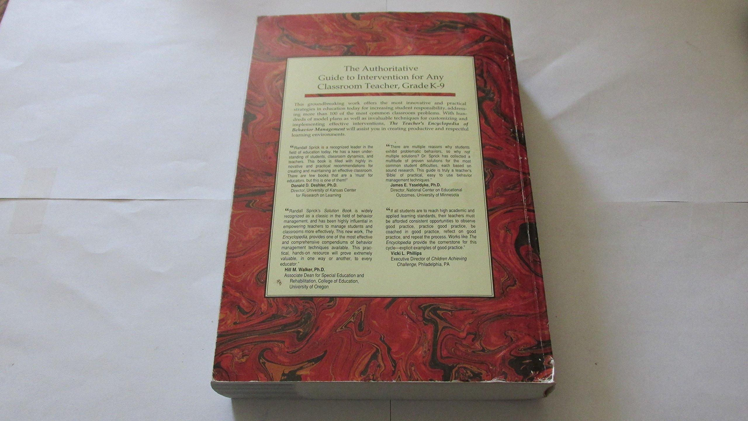 Buy Teachers Encyclopedia Of Behavior Management 100 Problems 500