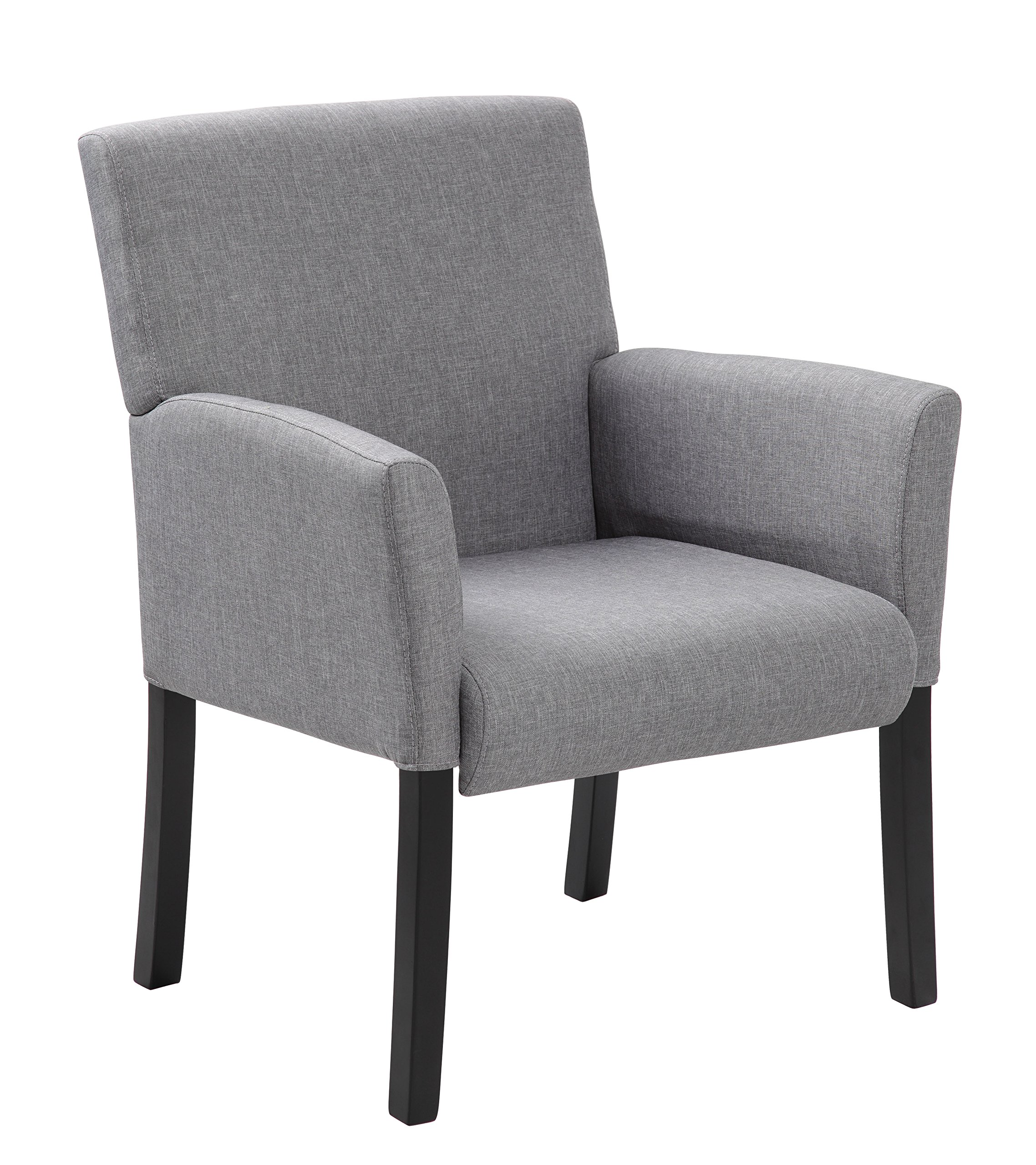 Boss Office Products B659-MG Contemporary Guest Chair in Grey