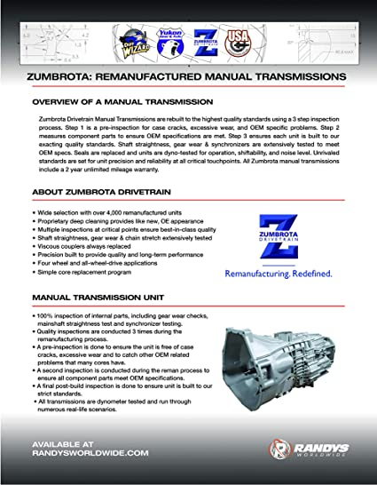 USA Standard ZMNV22608 Manual Transmission Parts Overhaul Packages ...