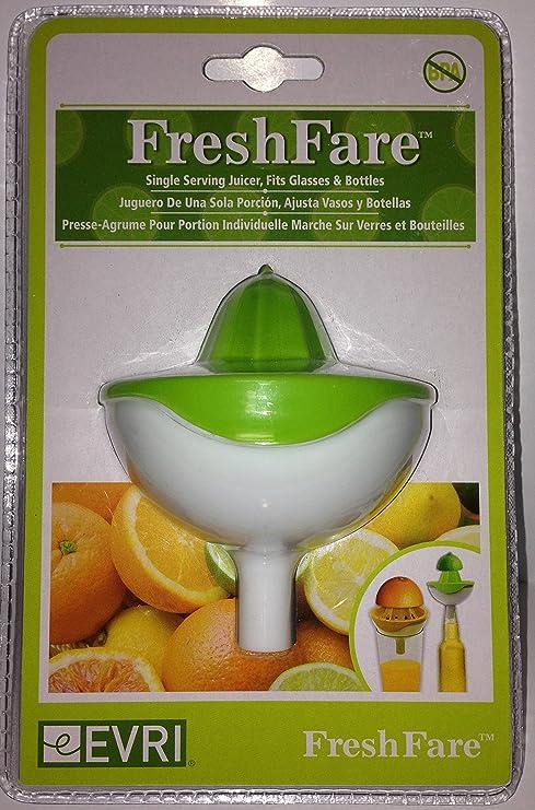 Evriholder FreshFare - Exprimidor con embudo para botellas, color amarillo, naranja y verde