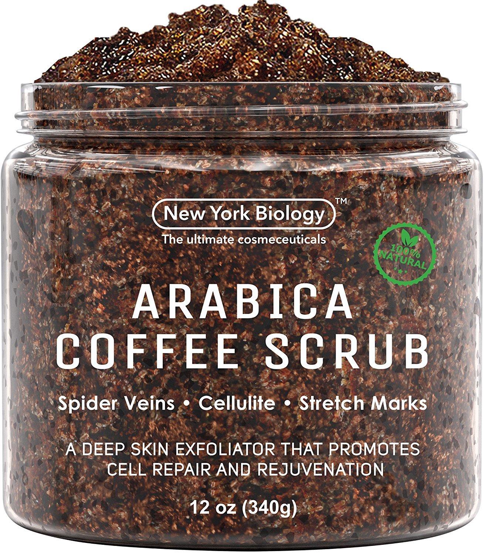 New York Biology Natural Arabica Coffee Body Scrub, 12-Ounce