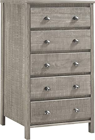 Camaflexi Baja Chest 5 Drawer Grey Furniture Decor