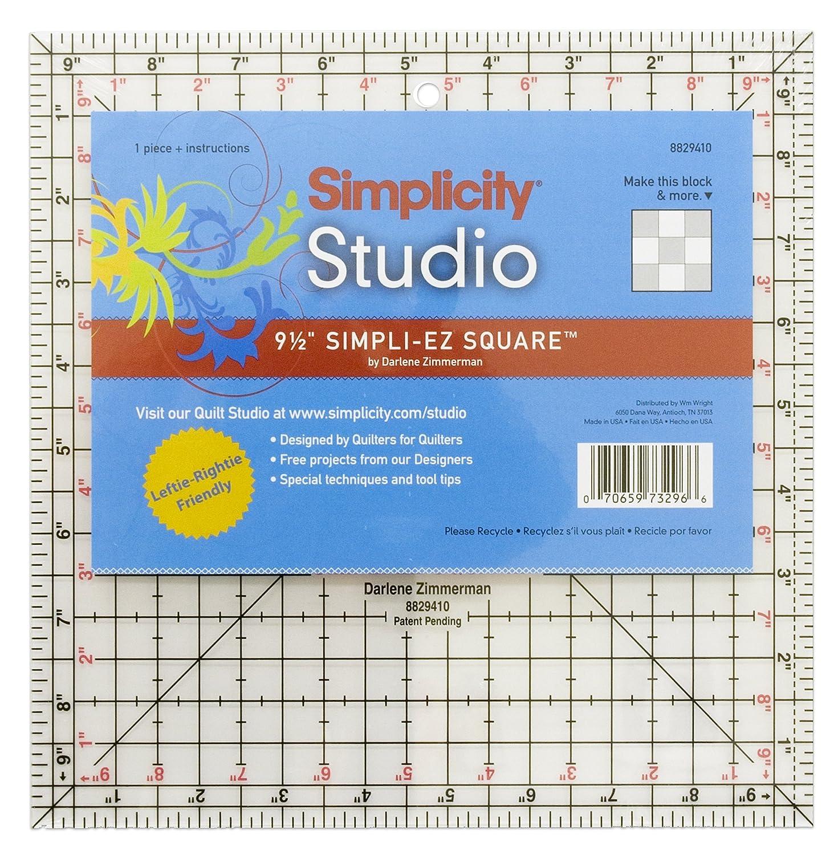 Simpli-EZ 8829410 Stepp- und Quilt-Vorlage 23 x 23 cm British Trimmings Limited