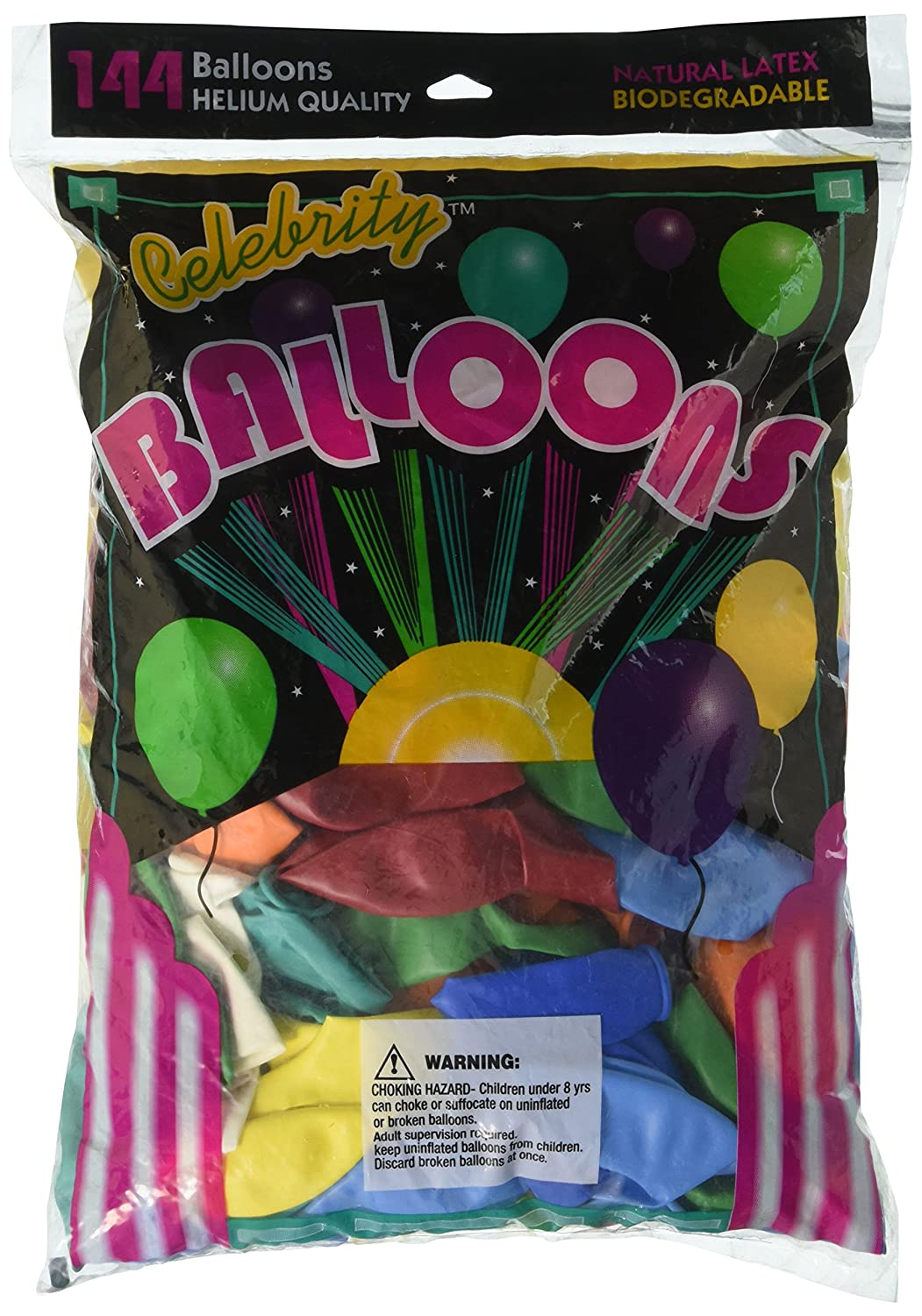 12 Assorted Colors Tablemate/Â Helium-Quality Latex Balloons 144 Per Pack Tablemate.1200