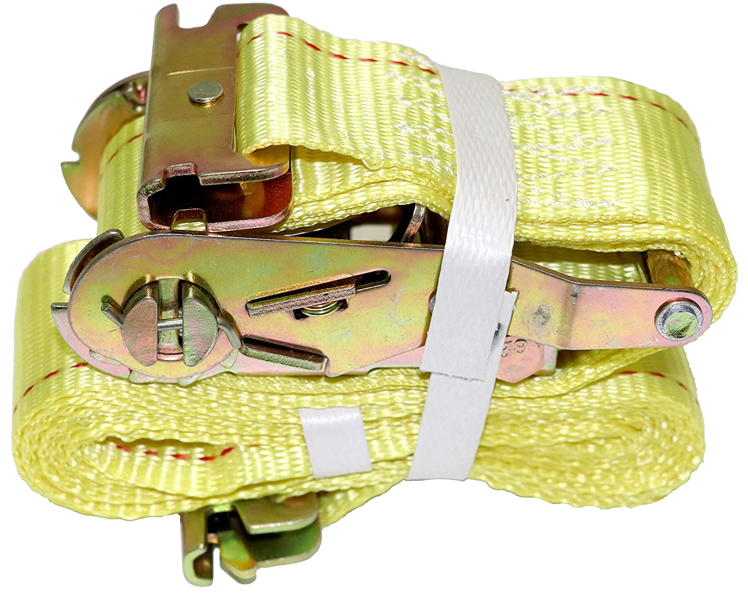 """4 Pack Ideal Enclosed Trailer Tie Down /& Dry Van Cargo Straps Standard E Track Spring Fittings or Connectors DK Global Heavy Duty Steel Ratchet /& Polyester Webbing DKG 2/"""" x 12/' E Track Ratchet Straps"""