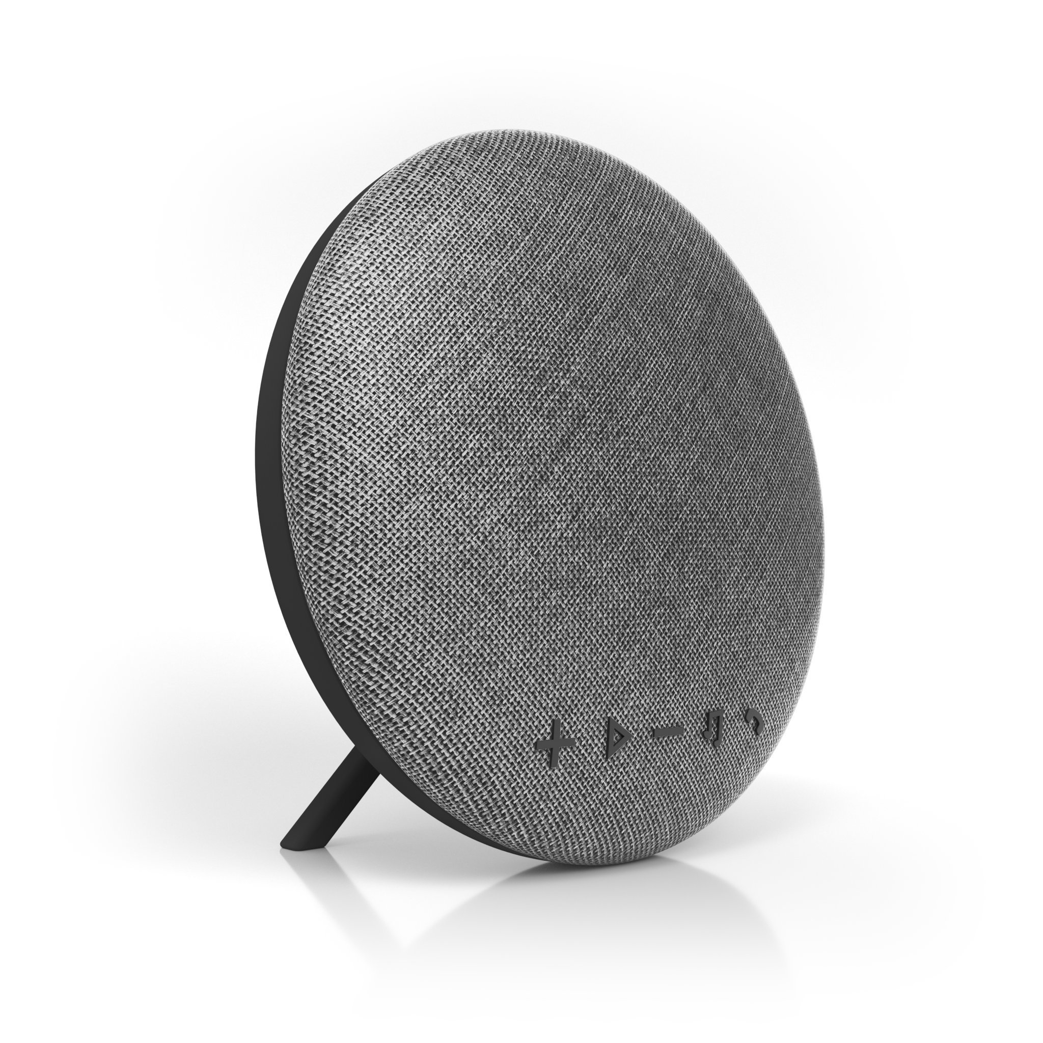 Deco Series Speaker by Tzumi - Large Wireless Bluetooth Fabric Speaker - Add Powerful Sound And Ambiance to Any Room - Grey by Tzumi