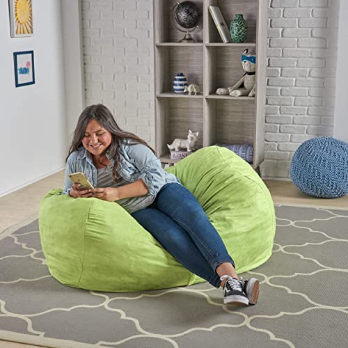Christopher Knight Home CKH Cassell Green Fabric 4-foot Lounge Beanbag Chair