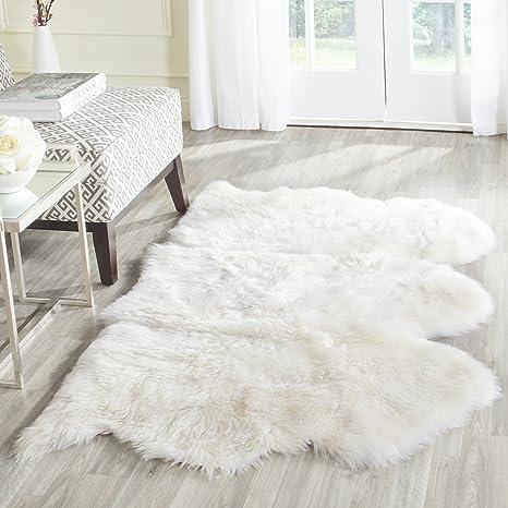 shag rugs. Amazon.com: Safavieh Sheepskin Collection SHS121A Genuine Pelt White Premium Shag Rug (3\u0027 X 5\u0027): Kitchen \u0026 Dining Rugs