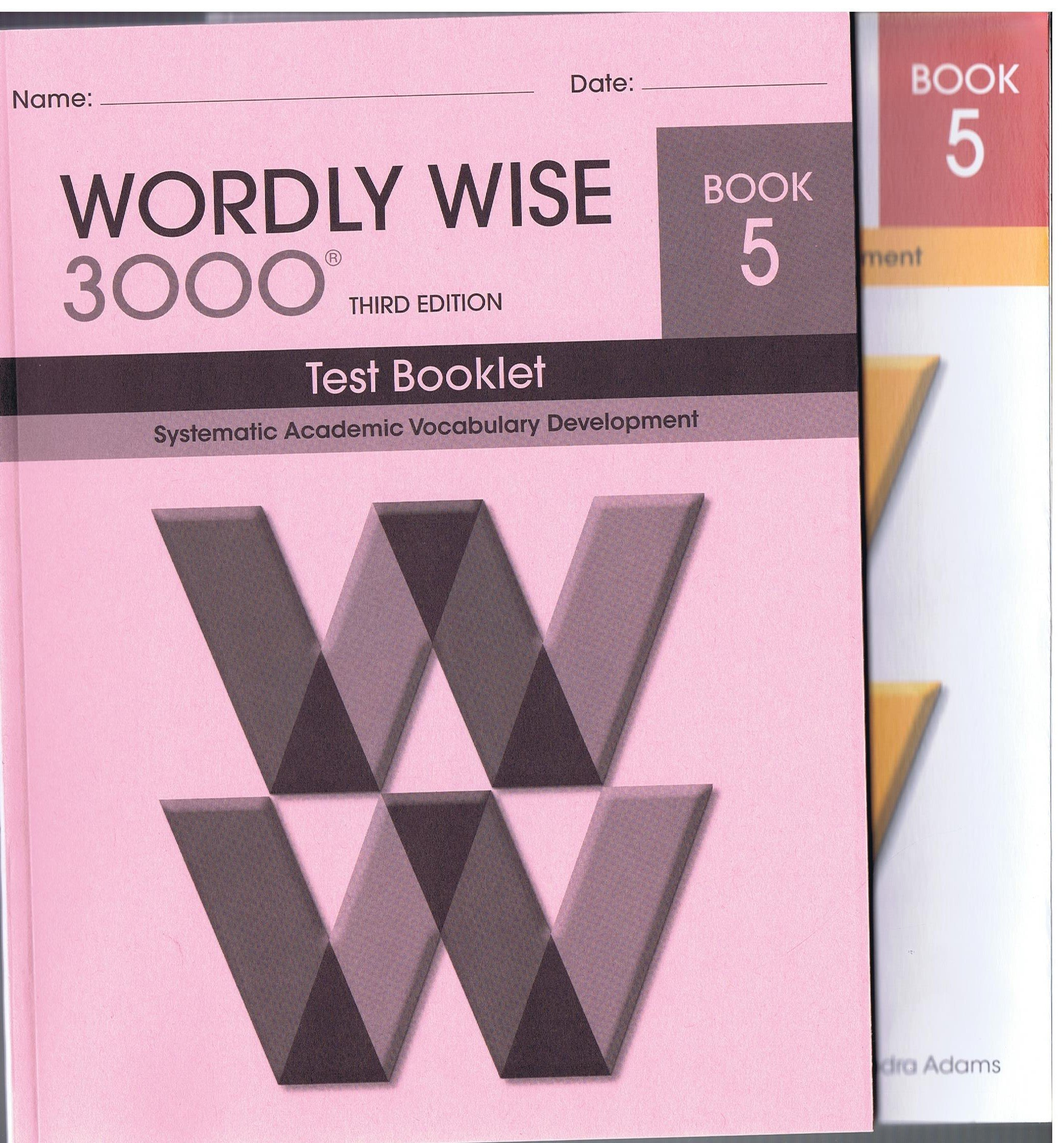 WORDLY WISE 3000 THIRD EDITION BOOK 5 AND TEST BOOKLET: Amazon.com: Books