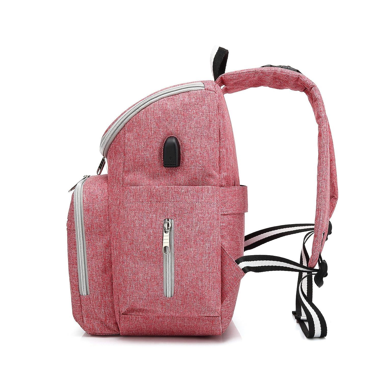 qutool bolsa de pañales mochila gran capacidad bebé pañal bolsa multifunción viaje bolso mochila para pañales bolsas para el cuidado del bebé pañales ...