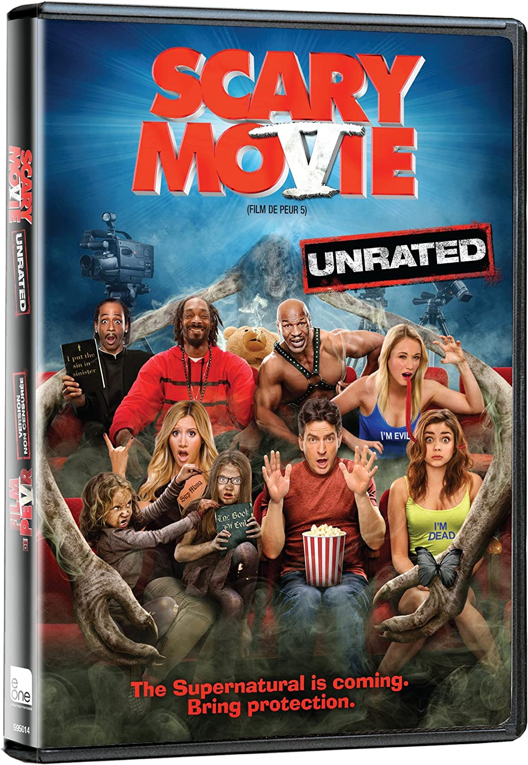 Scary Movie 5 Film De Peur 5 Bilingual Amazon Ca Lindsay Lohan Charlie Sheen Ashley Tisdale Terry Crews Kate Walsh Molly Shannon Heather Locklear Simon Rex Mike Tyson Jerry O Connell Malcolm D