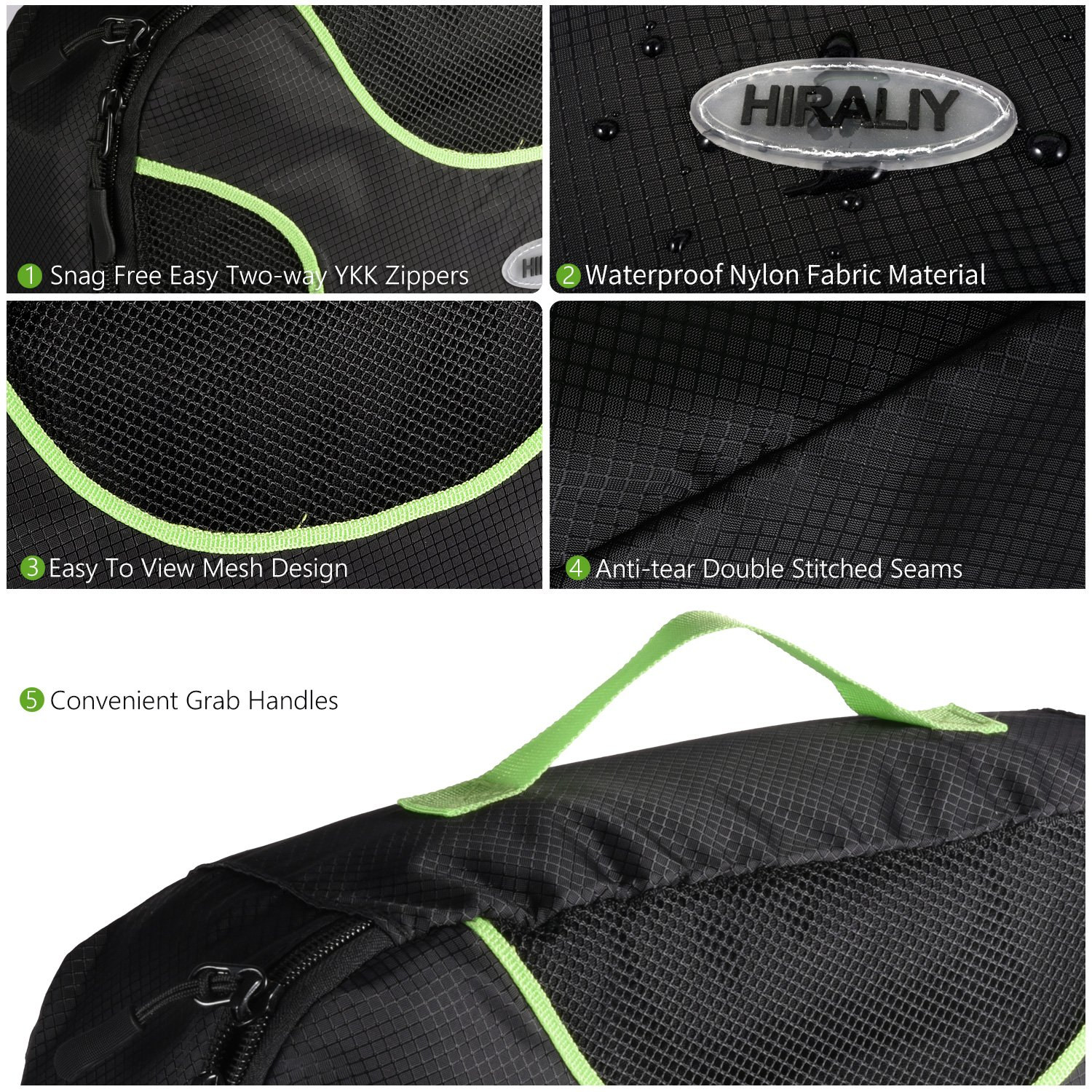 PackingCubes HIRALIY4SetCompression Travel Packing Organizers withLaundryBag