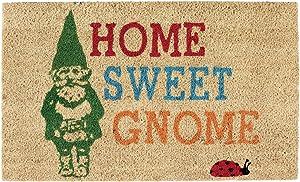 DII Fun Greetings Home Décor Indoor/Outdoor Natural Coir Fiber Doormat, 18x30, Sweet Gnome
