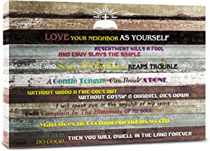 Inspirational Wall Art Motivational Poster Quotes Office Wall Decor for Living Room Art Print Home Decor, Biblical church wall art. Great Christian gift 12x16inchx1pcs