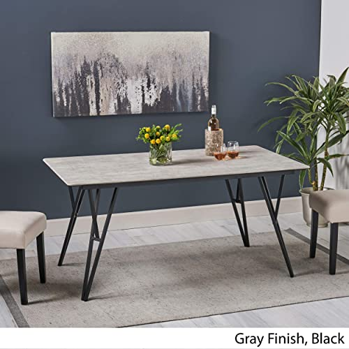 Christopher Knight Home Alyssa Bay Modern Dining Iron Frame and Laminate Table Top