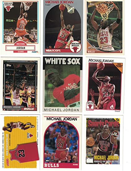 bc8363860335 Michael Jordan   9 Different Basketball Cards Featuring Michael Jordan at  Amazon s Sports Collectibles Store