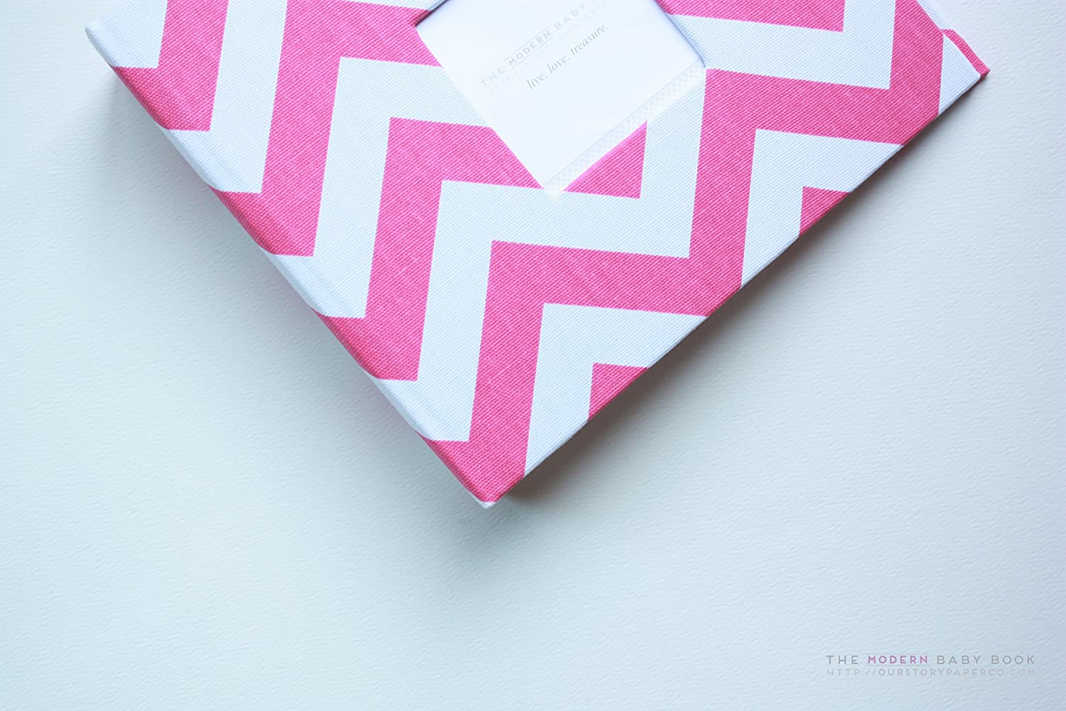 d31516b28 Amazon.com  Hot Pink Chevron Stripe Modern Baby Book  Handmade