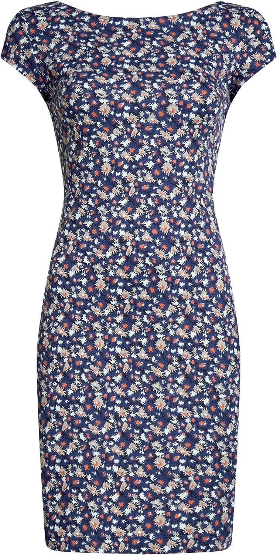 oodji Collection Damen Enges Kleid mit R/ückenausschnitt