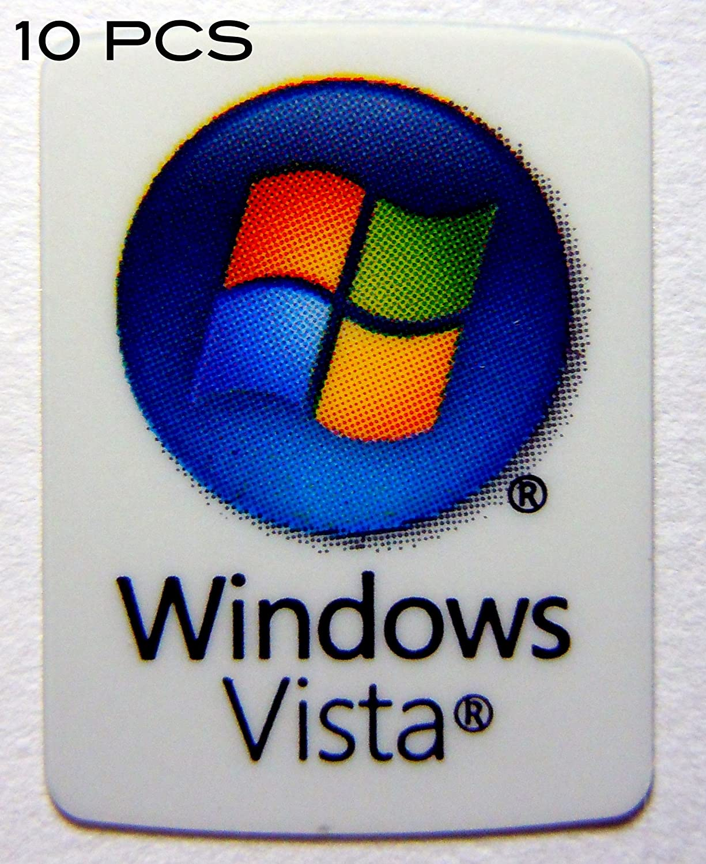 4x10 10 Pieces of VATH Made Compatible Microsoft Windows Vista Sticker 19 x 25mm
