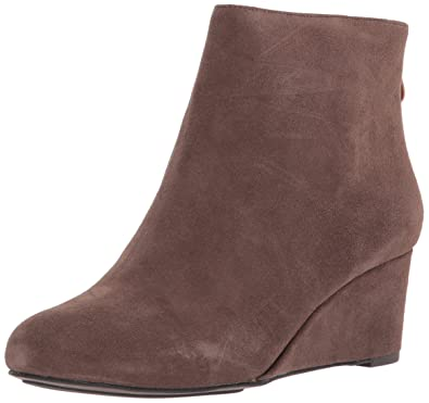 3e4fe8e3e4ae Gentle Souls by Kenneth Cole Women s Vicki Low Wedge Bootie Suede Ankle  Bootie
