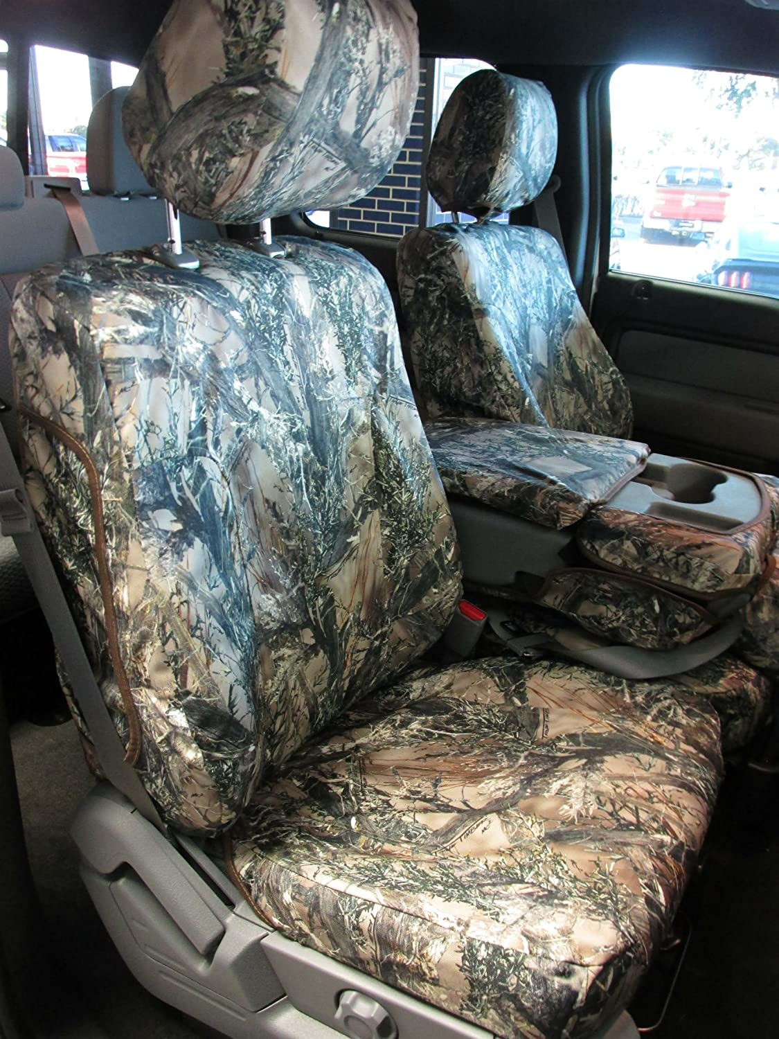 Durafit Seat Covers, F480-MC2-C- Ford F150-F550 XLT and Lariat 40/20/40 Split Seat with Opening Center Console in MC2 Camo Endura F480 MC2-C