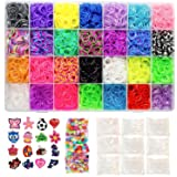 11,200 Piece Mega Rainbow Loom Refill Kit - 10,500 Loom Bands, 500 S-Clips, 175 Beads, and Case Included - Brilliant Colors - Durable Materials Won't Snap or Stretch - Unique Craft Supplies for Kids