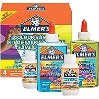 Elmer's Kleurenslijmkit | Slijmbenodigdheden omvatten doorschijnende kleur PVA-lijm | diverse kleuren | met magische…
