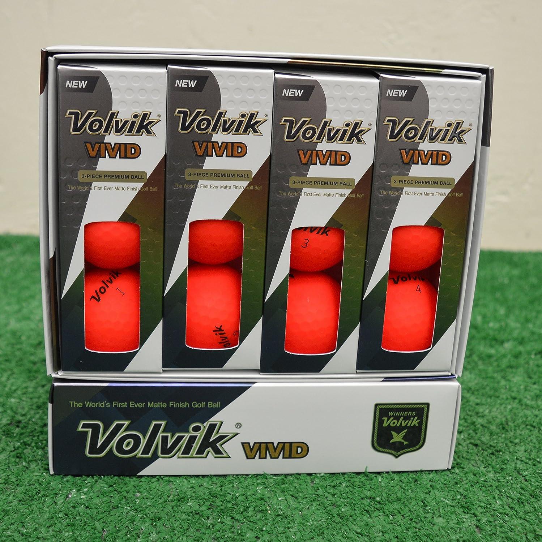 Volvik Vivid ゴルフボール マットレッド 2ダース   B079V363FT