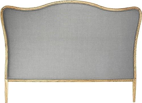 Creative Co-Op Oak Linen King Size Headboard
