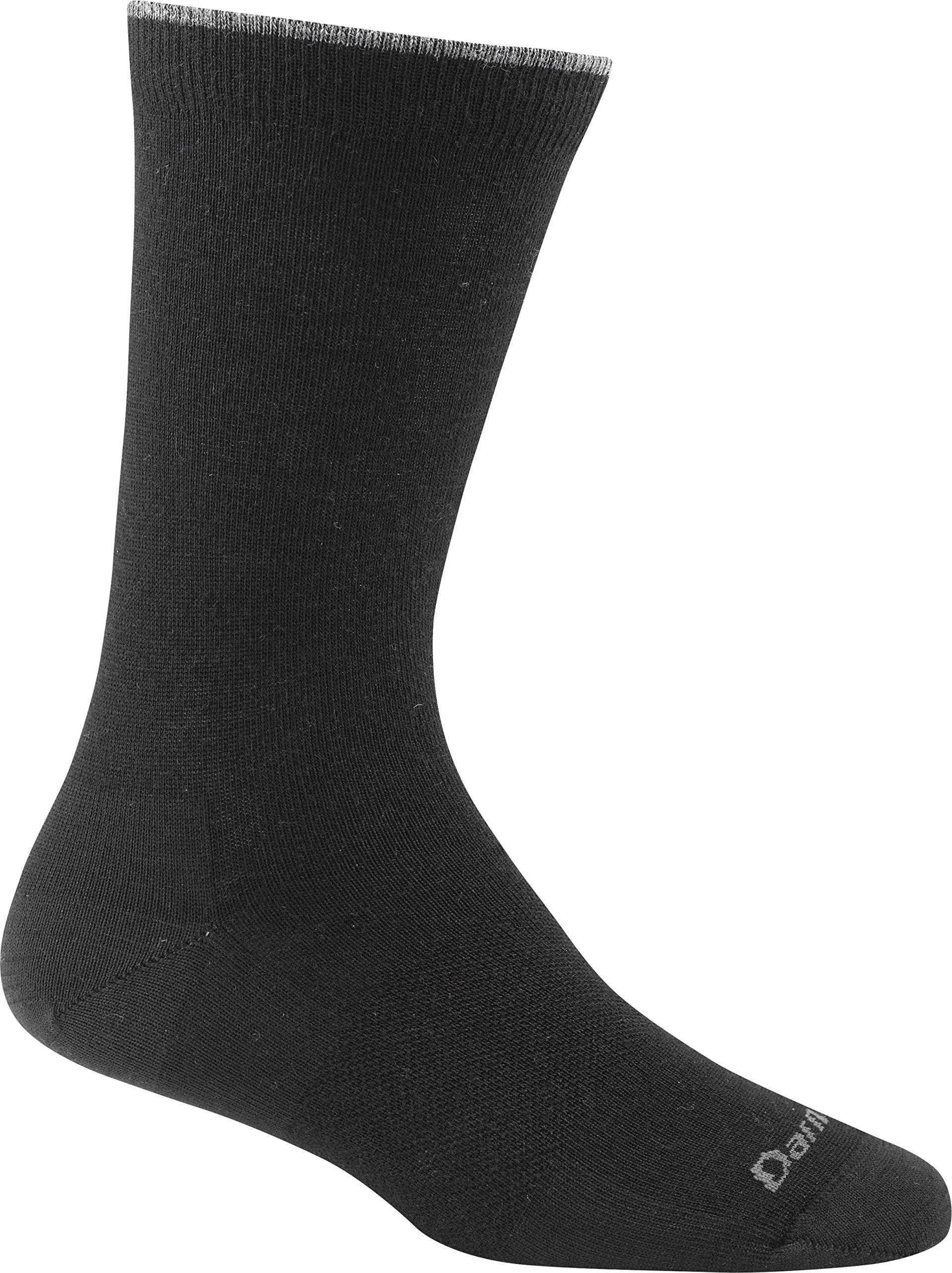 Darn Tough Women's Merino Wool Solid Basic Crew Light Socks, Black, Large - 6 Pack Special Offer by Darn Tough