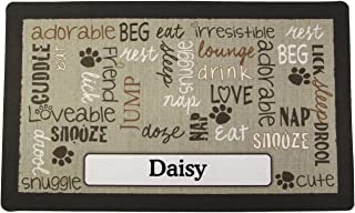 product image for Drymate Pet Placemat Personalized, Dog Food Mat, Cat Food Mat, Pet Food Mat - Absorbent/Waterproof - Machine Washable, Durable, (USA Made)