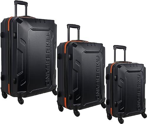 Timberland 3 Piece Hardside Spinner Luggage Set, Blue