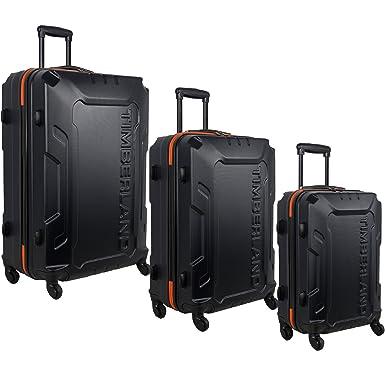 146633ebe Amazon.com | Timberland 3 Piece Hardside Spinner Luggage Set, Blue ...