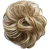 PRETTYSHOP 100% Human Hair Up Scrunchie Scrunchy Extensions Hairpiece Do Bun Ponytail Diverse Colors (blonde mix #27H613…